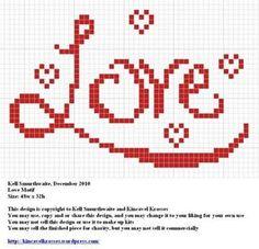 cross stitch chart would work for filet crochet Cross Stitching, Cross Stitch Embroidery, Embroidery Patterns, Blackwork Patterns, Cross Stitch Boards, Cross Stitch Heart, Crochet Cross, Crochet Chart, Filet Crochet