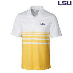 LSU James Engineered Stripe Polo