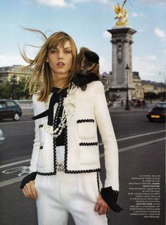 Angela Lindvall modeling Chanel haute couture in Paris, photographed by Terry Richardson.