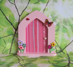 Fairy Door, free standing with fairy key and fairy dust.