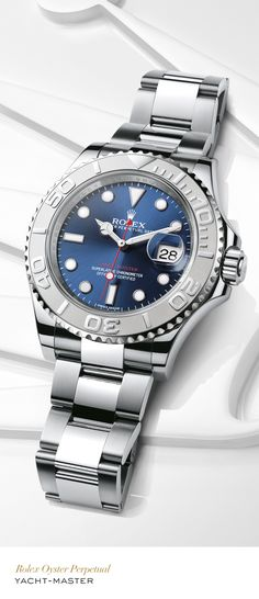 Rolex Yacht-Master 40 mm in 904L steel and platinum with a rotatable graduated… …