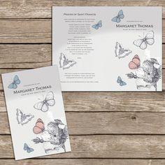 Lovely Butterfly Memorial / Funeral Program /  Bulletin by FoxDigitalDesign, $55.00