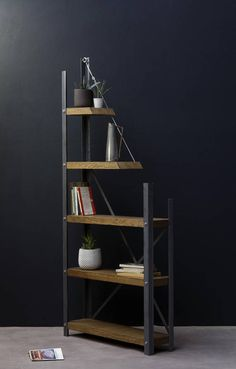 KONK De-constructed Oak/Steel Industrial Bookcase Bespoke