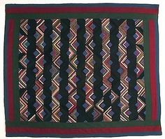 Mennonite Straight Furrows Log Cabin Quilt