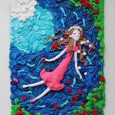 Ophelia is a clay version of one of my first plasticine artworks. #taninplastilin #plasticine #plastilina #пластилин #clayart #clay #танинпластилин