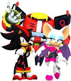Team Dark! by NIBROCrock on deviantART - Shadow the Hedgehog - E-123 Omega - Rouge the Bat