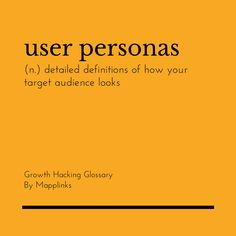 Detailed definitions of how your target audience looks. Growth Hacking, Event Marketing, Target Audience, Definitions