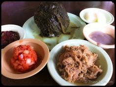 Ono Hawaiian Foods ~ Ono is perhaps O'ahu's best loved location for authentic Hawaiian cuisine. Lau lau, kalua pig, lomi salmon, and poi make up a traditional mix plate.  726 Kapahulu Avenue  Honolulu, HI 96816  (808) 737-2275