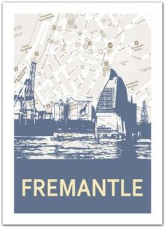 Fremantle Skyline Print