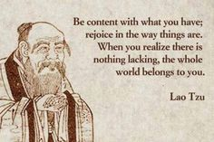 The power of being content... - #Taoism