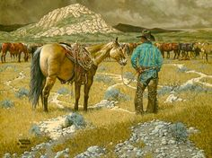 """A Man and His Horse"" ~ Kenneth Wyatt"