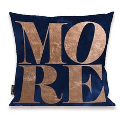 Solid Gold More Copper Pillow - Oliver Gal Art