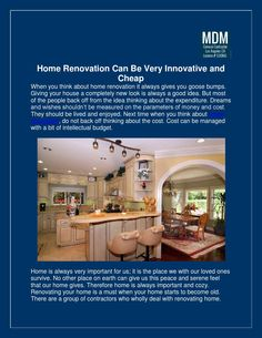 Have a look at the PDF Presentation on #HomeRenovation in the link below....