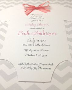 Chevron Onesie Baby Shower Invitation Girl or by IcingOnTheParty, $25.00