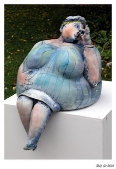 charming clay figure
