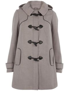 gosh i love this light gray coat!!! i adore plus size trench coats. on sale for $75 from 115