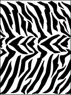 Modern Design Zebra stencils, stensils and stencles