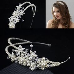 Gold Plated Metal Headbands Hair Bands For Brides Sale Cheap Rhinestone Imitation Pearl Bridal Wedding Jewelries Accessories Prom Headpieces Online with $21.07/Piece on Sarahbridal's Store | DHgate.com