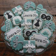 38 Ideas Breakfast At Tiffanys Bridal Shower Cookies Party Ideas Tiffany E Co, Tiffany Sweet 16, Tiffany Theme, Tiffany Blue, Tiffany Jewelry, Tiffany Birthday Party, Tiffany Party, Birthday Parties, 50th Birthday