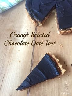 Orange Scented Chocolate Date Tart + Giveaway!