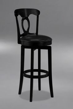 Hillsdale Plainview Corsica 24.5 Inch Swivel Counter Stool in Black 4168-828