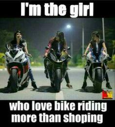 I love to ride . - motorcycle - riding for men fahren lustig mädchen sprüche umbauten Biker Chick, Biker Girl, Triumph Motorcycles, Easy Rider, Kawasaki Ninja, Dirt Bike Quotes, Motorcycle Memes, Women Motorcycle, Ducati