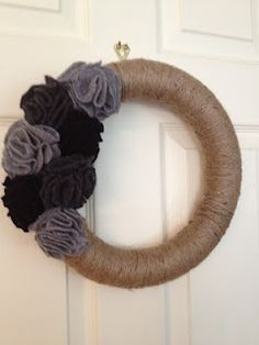 Making Pinterest My Reality: Jute Wreath