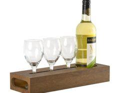 Caddy vino bloque portador de la botella de vino madera