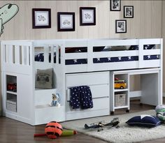 Cabin Bed With Storage Steps neutron cabin bed - Home Design Boys Cabin Bed, Childrens Cabin Beds, Cabin Beds For Kids, Bunk Beds Small Room, Bunk Bed With Desk, Kids Bunk Beds, Small Rooms, Cabin Bed With Storage, Bed Storage