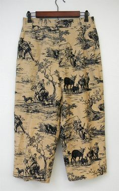 Vintage Pants 80s 90s Harve Bernard Novelty by PinkCheetahVintage, $20.00