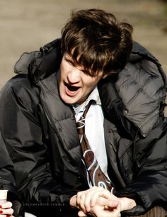 """sleepy Eleventh Time Lord, Matt Smith…  