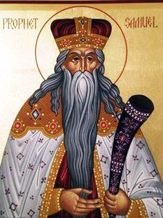 The Holy Prophet Samuel Created Rev Marek Visnovsky Orthodox Catholic, Catholic Saints, Orthodox Christianity, Religious Icons, Religious Art, St Clare's, Religion, Jesus Art, Byzantine Art