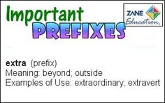 A daily Literary & Language Arts activity to help your children or students to learn their Prefixes. Visual Learning, Prefixes, Educational Videos, Reading Skills, Special Needs, Art Activities, Language Arts, Knowing You, Meant To Be