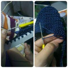 Hi crochet girls Today a beautiful blue shoe crochet. Crochet Girls, Love Crochet, Crochet Granny, Crochet Flowers, Crochet Baby, Crochet Designs, Crochet Patterns, Crochet Shoes, Crochet Videos