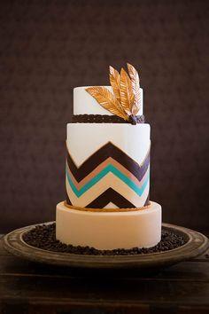 Boho Feather - by Rebellyous Cake Co @ CakesDecor.com - cake decorating website