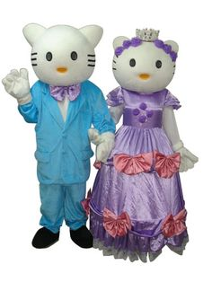 Hello Kitty with Crown Mascot Adult Costume
