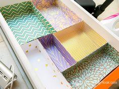 room diy organization DIY Drawer Dividers for Desk Organizing (+Tips and Tricks) Organisation Hacks, Office Drawer Organization, Diy Drawer Dividers, Desk Dividers, Diy Drawer Organizer, Drawer Organisers, Organizing Tips, Makeup Organization, Organizing Drawers