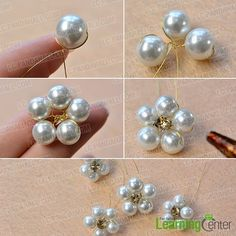 Make some pearl bead flowers to decorate the headband