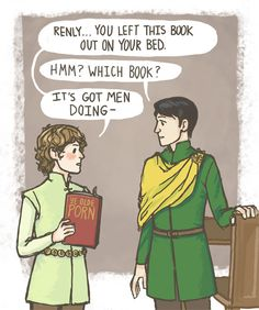 Awkward younger Loras and Renly! (And that's when Renly learned to better hide his porn stash (but Loras probably found it anyways).) by knightofbunnies