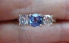 Engagement ring. Come at me. #vintage #blue