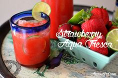 Strawberry Agua Fresca | Strawberry & Lime Infused Water
