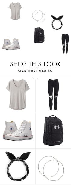 """""""a normal day at school"""" by starlyia on Polyvore featuring prAna, AMIRI, Converse and Under Armour"""