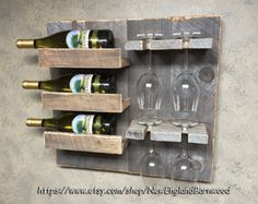 Botellero de pared pared montada Vertical por AdliteCreations