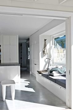 Create space with a seamless paint job between rooms. Photo cred:  http://www.insideout.com.au/expert-advice/interior-stylist/10-easy-ways-to-make-a-small-space-look-bigger
