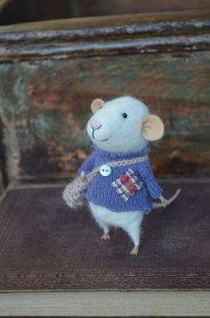 Little Traveler  Mouse - Felting Dreams - READY TO SHIP. $68.00, via Etsy.