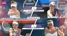 New Haven Final Set: Results of Connecticut Open Semifinals Day!  Svitolina def. Larsson 6-4, 6-2 & Radwanska def. Kvitova 6-1, 6-1. #CTOpen16 via WTA.