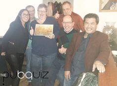 En de winnaars van The Pubquiz UWV (10 december)! Een geslaagde Pubquiz i.c.m. een heerlijk drie-gangen diner! -www.thepubquiz.nl