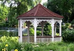 CARLISLE Gazebos Taking design cues from its namesake in Northwestern England, the Carlisle gazebo is reminiscent of a charming merry-go-round. Its lightheartedness has an almost fairy tale feel, demonstrated in the traditional turned spindle railings and whimsical gingerbread corner braces.   56 sq.ft to 162 sq.ft $5,995 - $13,195