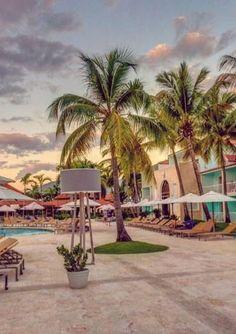 Gran Ventana Beach Resort pool at dusk... (Puerto Plata, Dominican Republic)