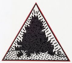 somedevil:  Keith Haring, A Pile of Crowns for Jean-Michel Basquiat, 1988